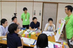 會津藩校日新館 臨床研究デザイン塾 グループワーク風景